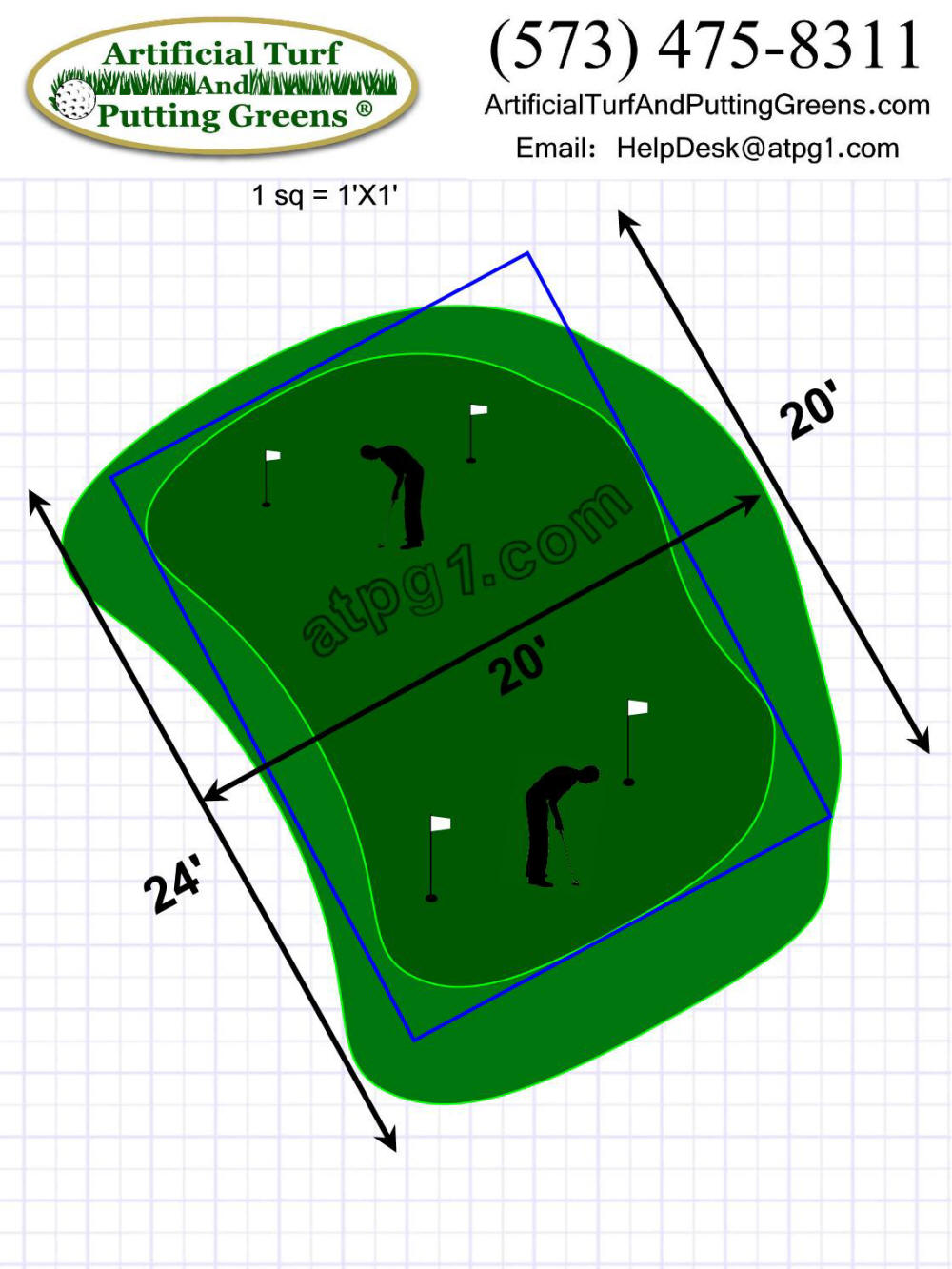Putting Greens - free putting green designs (plans)