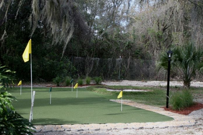 florida backyard putting green do it yourself diy project