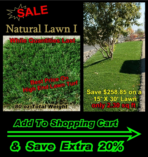 "(2) 1 5/8"" NATURAL LAWN I - 80oz Total Weight (15 X 10)"