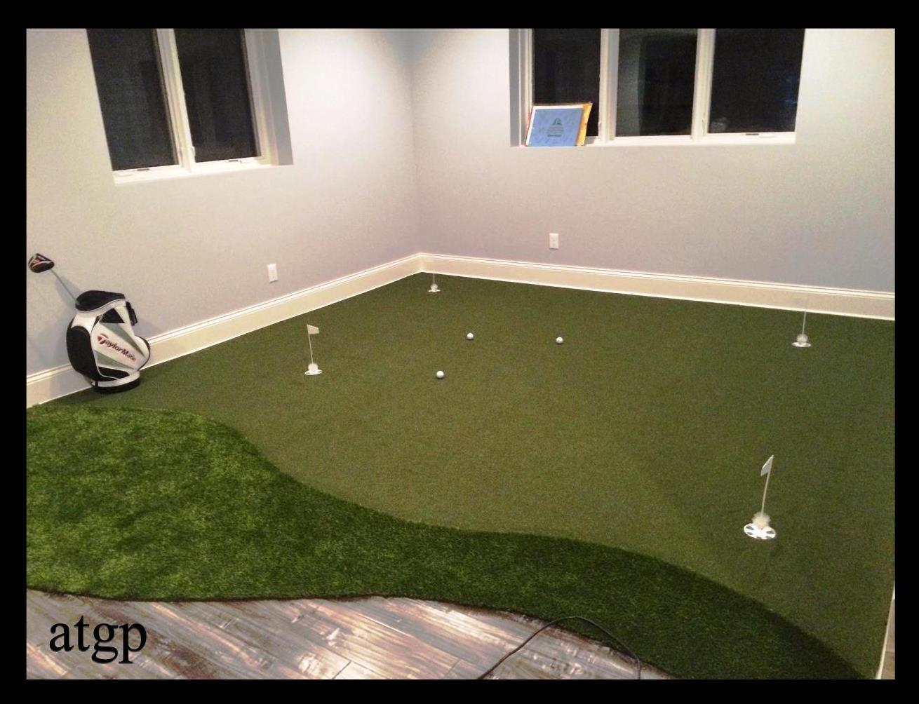 inside putting green training area
