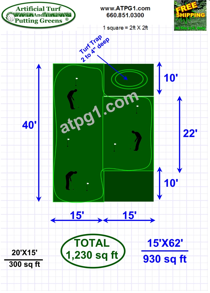 Wholesale putting greens free putting green plan designs Green plans