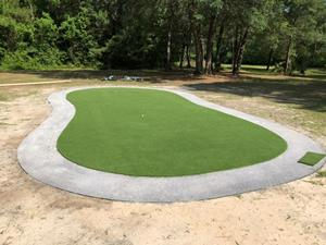 eagle putting green installation